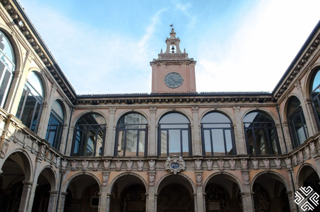 Palazzo dell'Archiginnasio the first University of Bologna