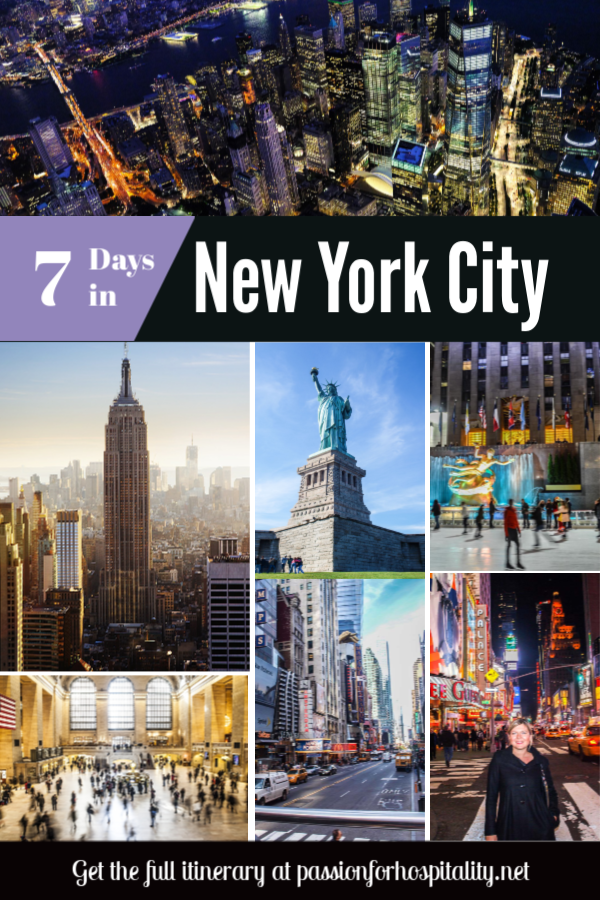 How to spend 7 days in New York City. A detailed itinerary