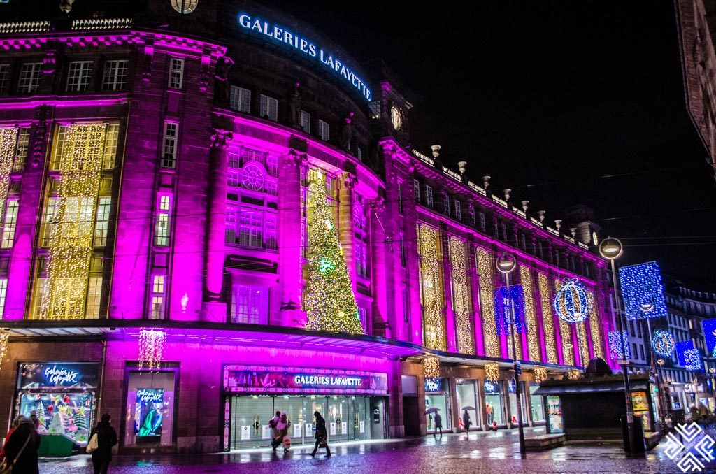 Galerie Lafayette in Strasbourg during Christmas